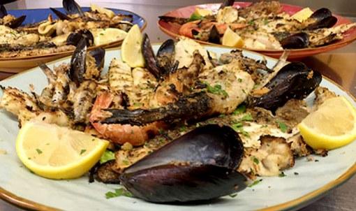 arrosto di pesce ristorante hotel doria